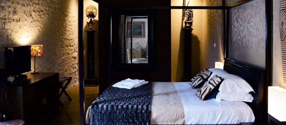 The Africaine Suite bedroom interior